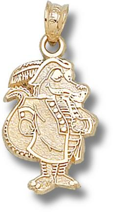 "New Orleans Privateers ""LaFitte Gator"" Pendant - 10KT Gold Jewelry"