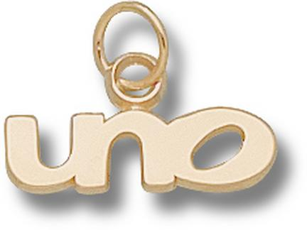 "New Orleans Privateers ""UNO"" 1/4"" Charm - 14KT Gold Jewelry"