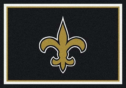 "New Orleans Saints 3' 10"" x 5' 4"" Team Spirit Area Rug (Black)"