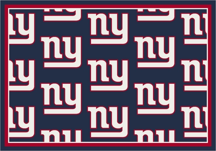 "New York Giants 3' 10"" x 5' 4"" Team Repeat Area Rug (Navy Blue)"