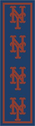 "New York Mets 2' 1"" x 7' 8"" Team Repeat Area Rug Runner"