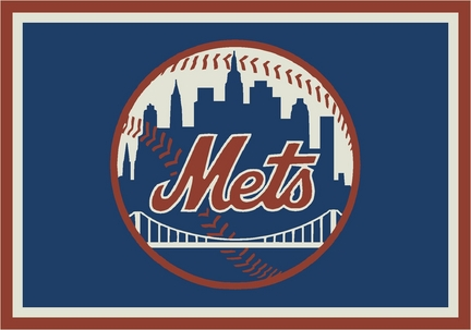 "New York Mets 3'10"" x 5'4"" Team Spirit Area Rug"