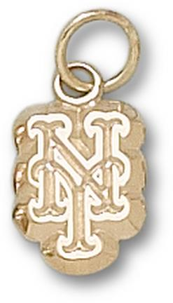 "New York Mets ""NY"" 3/8"" Charm - 10KT Gold Jewelry"