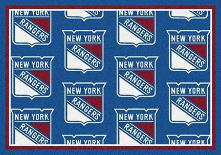 "New York Rangers 2' 1"" x 7' 8"" Team Repeat Area Rug Runner"