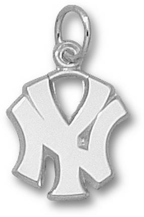 "New York Yankees 1/2"" ""NY"" Charm - 10KT White Gold Jewelry"