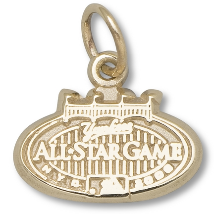 "New York Yankees 1/4"" 2008 All Star Game Logo Charm - 10KT Gold Jewelry"