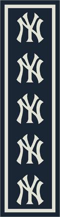 """New York Yankees 2' 1"""" x 7' 8"""" Team Repeat Area Rug Runner"""