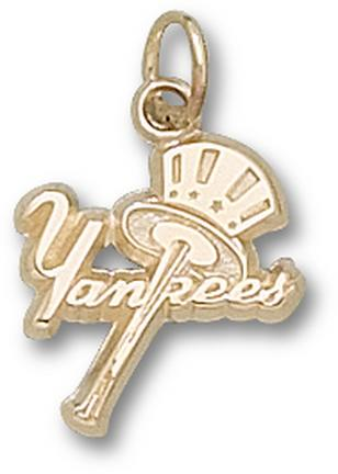 "New York Yankees ""Yankees Bat / Hat"" Charm - 10KT Gold Jewelry"