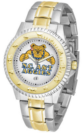 North Carolina A & T Aggies Competitor Two Tone Watch