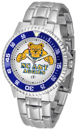 North Carolina A & T Aggies Competitor Watch with a Metal Band