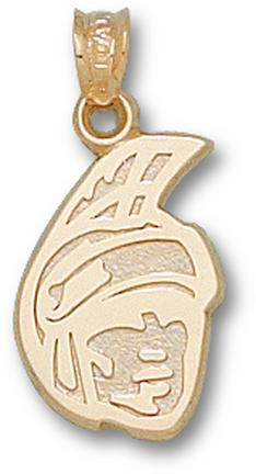 "North Carolina (Greensboro) Spartans ""Spartan Head"" 5/8"" Pendant - 10KT Gold Jewelry"
