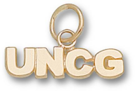 "North Carolina (Greensboro) Spartans ""UNCG"" 3/16"" Charm - 14KT Gold Jewelry"