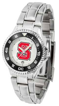 North Carolina State Wolfpack Competitor Ladies Watch with Steel Band