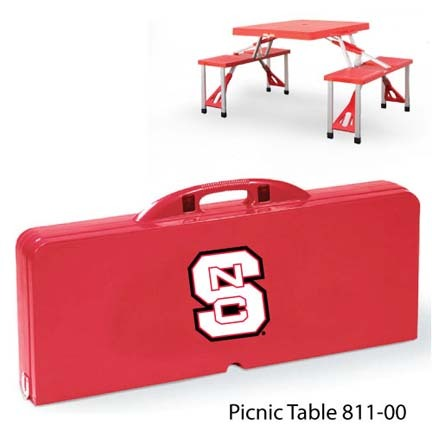 North Carolina State Wolfpack Portable Folding Table and Seats