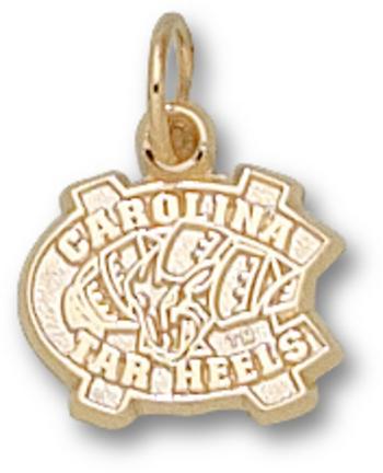 """North Carolina Tar Heels 3/8"""" """"NC"""" Charm - 10KT Gold Jewelry"""