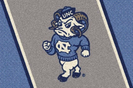 "North Carolina Tar Heels ""Ram"" 3'10"" x 5'4"" Team Spirit Area Rug"
