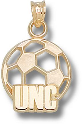"North Carolina Tar Heels ""UNC Soccer Ball"" Pendant - 10KT Gold Jewelry"