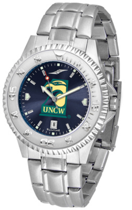 North Carolina (Wilmington) Seahawks Competitor AnoChrome Men's Watch with Steel Band