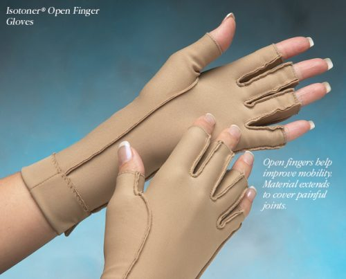 North Coast Medical NC53022-1 Isotoner Therapeutic Gloves Open Finger Small