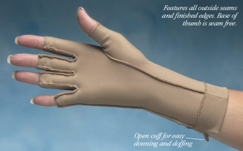 North Coast Medical NC53022-2 Isotoner Therapeutic Gloves Open Finger Medium