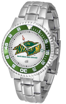 North Dakota State Bison Competitor Men's Watch with Steel Band