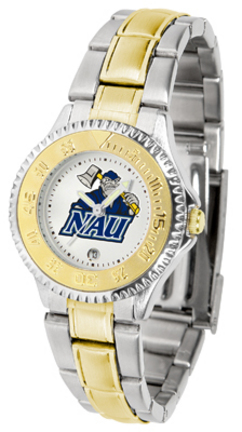 Northern Arizona (NAU) Lumberjacks Competitor Ladies Watch with Two-Tone Band