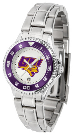Northern Iowa Panthers Competitor Ladies Watch with Steel Band
