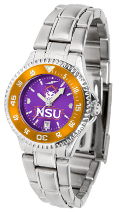 Northwestern State Demons Competitor AnoChrome Ladies Watch with Steel Band and Colored Bezel