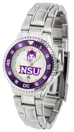 Northwestern State Demons Competitor Ladies Watch with Steel Band