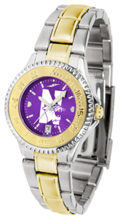 Northwestern Wildcats Competitor AnoChrome Ladies Watch with Two-Tone Band