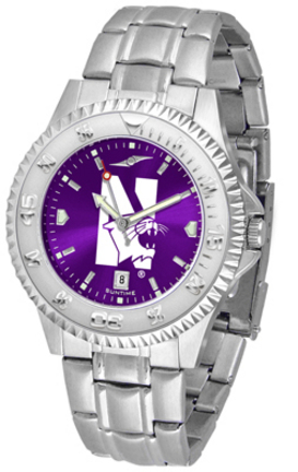 Northwestern Wildcats Competitor AnoChrome Men's Watch with Steel Band