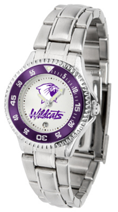 Northwestern Wildcats Competitor Ladies Watch with Steel Band
