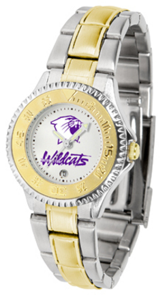 Northwestern Wildcats Competitor Ladies Watch with Two-Tone Band
