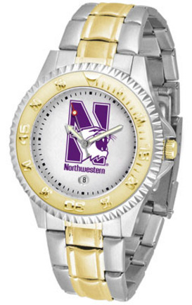 Northwestern Wildcats Competitor Two Tone Watch