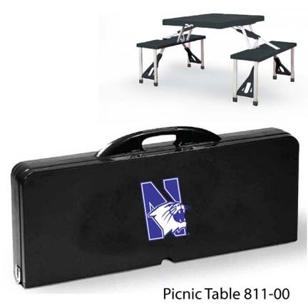 Northwestern Wildcats Portable Folding Table and Seats