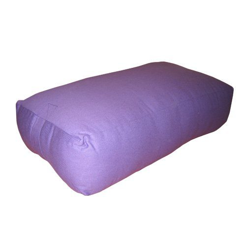 Nu-Source 25 x 16 in. Rectangular Yoga Bolster Canvas Cover - Purple