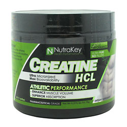 Nutrakey 6150088 Creatine Hcl Unflavored 125 Serving
