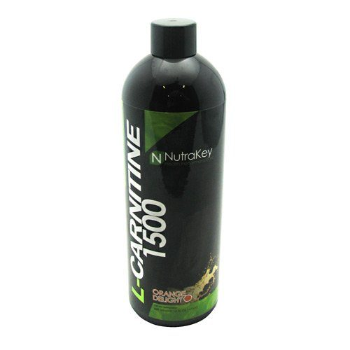 Nutrakey 6150107 Liquid L-Carnitine 1500 Nutritional Orange Supplement - 31 Serving