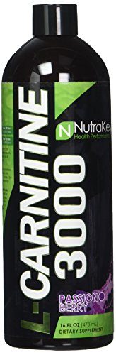 Nutrakey 6150124 L-Carnitine 3000 Passion Berry Liquid - 31 Serving