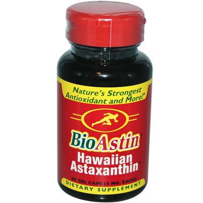 Nutrex Hawaii 0138933 BioAstin Natural Astaxanthin - 4 mg - 60 Gelatin Capsules