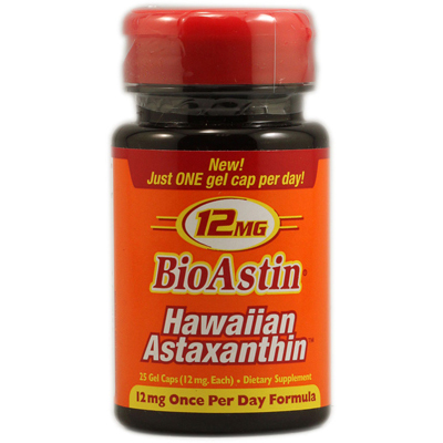 Nutrex Hawaii 1097823 BioAstin Hawaiian Astaxanthin - 12 mg - 25 Gel Caps