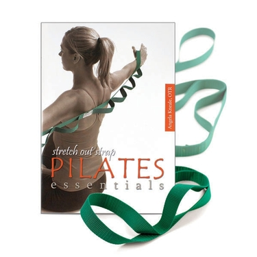 OPTP 8216PKG Stretch Out Strap Pilates Essentials Book and Set