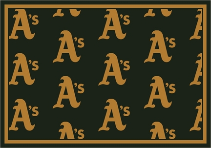 "Oakland Athletics 2' 1"" x 7' 8"" Team Repeat Area Rug Runner"