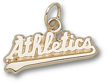 "Oakland Athletics ""Athletics"" 1/4"" Charm - 10KT Gold Jewelry"