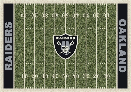 "Oakland Raiders 3' 10"" x 5' 4"" Home Field Area Rug"