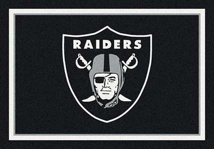 """Oakland Raiders 3' 10"""" x 5' 4"""" Team Spirit Area Rug (Black)"""