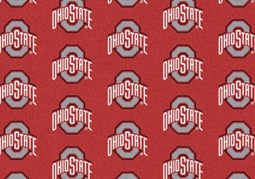 "Ohio State Buckeyes 3' 10"" x 5' 4"" Team Repeat Area Rug"