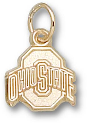 "Ohio State Buckeyes Athletic ""O"" 3/8"" Charm - 14KT Gold Jewelry"