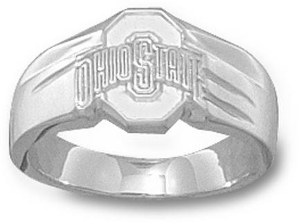 "Ohio State Buckeyes Athletic ""O"" Ladies' Ring Size 7 3/4 - Sterling Silver Jewelry"