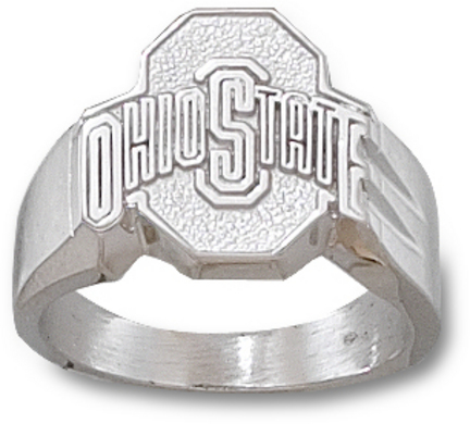 """Ohio State Buckeyes Athletic """"O"""" Men's Ring Size 10 3/4 - Sterling Silver Jewelry"""